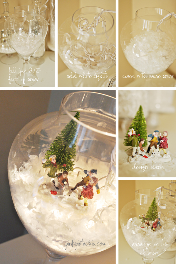 Let it snow pink pistachio - Deco table de noel fait maison ...