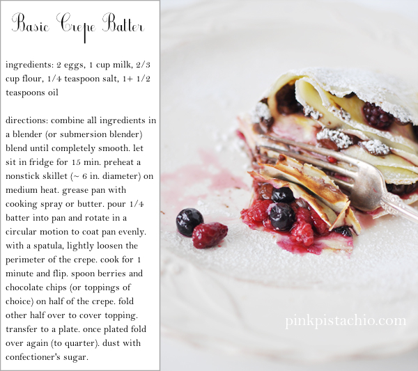 Basic Crepes - Pink Pistachio