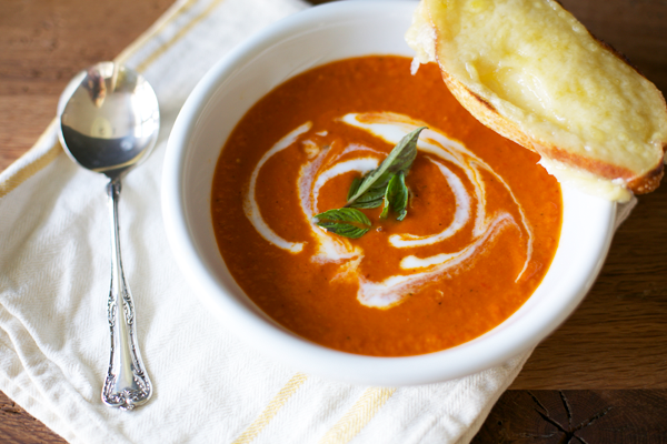 Roasted Red Pepper Soup - Pink Pistachio
